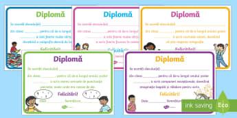 Limba română Diplome - diplome, recompense, idei, limba română, comunicare în limba română, gramatică, punctuație, o