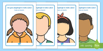 Face Playdough Mats English/German - translation, EAL, resources, ourselves, all about me, emotions, feelings, face, faces