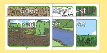 Bear Hunt Story Picture Cards - bear hunt, sound, story