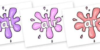 Phase 3 Phonemes on Splat - Phonemes, phoneme, Phase 3, Phase three, Foundation, Literacy, Letters and Sounds, DfES, display