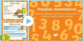 Presentación: Multiplicación y división - 4º Primaria - multiplicación, multiplicar, división, dividir, desafío, desafíos Matemáticos, matemáticas,Spa