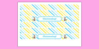 Christening Cake Ribbon - christening, new parents, cake ribbon