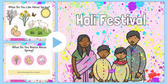 Holi Assembly PowerPoint - UKS2, LKS2, negative, positive, number, zero, forwards, backwards, context, calculate