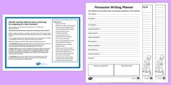 New Zealand Should Helmets on Scooters be Compulsory? Persuasive Writing Activity Sheet