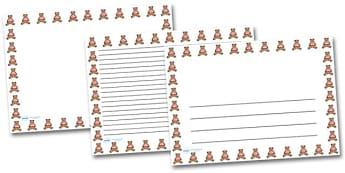 Teddy Landscape Page Borders- Landscape Page Borders - Page border, border, writing template, writing aid, writing frame, a4 border, template, templates, landscape