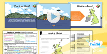 Geography: Beside the Seaside: Islands Everywhere Year 2 Lesson Pack 5