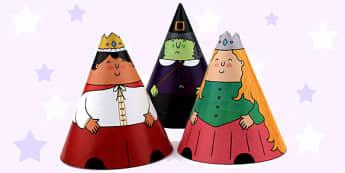 Rapunzel Cone Characters - rapunzel, traditional tales, cones