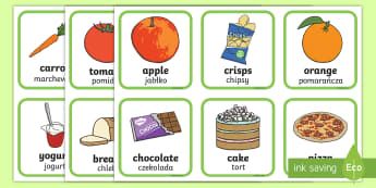 Healthy and Unhealthy Sorting Activity English/Polish - Healthy And Unhealthy Sorting Activity - food, sorting card, flashcards, sort, healthy, unhealthy, a