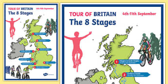 Tour of Britain Map Display Poster