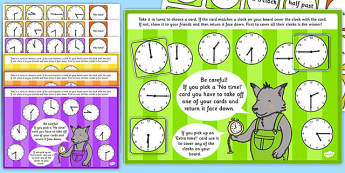 O'Clock, Half Past, Quarter Past and Quarter to Time Bingo and Lotto Game - ESL Time Games