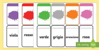 Abbina i Colori Flashcards - i, colori, flash, cards, flashcards, italiano, italian, materiale, scolastico