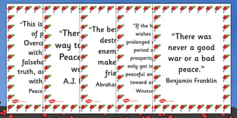 Peace Quotes Display Posters - Pease Quotes, quotes, peace, themed, related, display, poster, sign, Benjamin Franklin, war, peace, war and peace, Winston Churchill, Abraham Lincoln, famous, way to peace, peaceful, no war