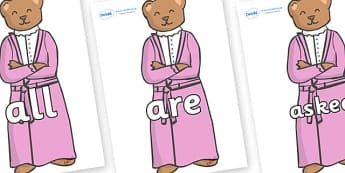 Tricky Words on Mummy Bear - Tricky words, DfES Letters and Sounds, Letters and sounds, display, words