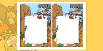 Autumn Themed Editable Note - autumn, autumn themed, editable note, editable, notes, writing, classroom notes, themed note, teacher notes, themed pages, page