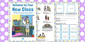 Welcome to Your New Class Booklet Polish Translation - polish