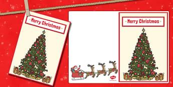 Merry Christmas Card - christmas, christmas card, merry christmas