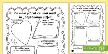 """Ce mi a plăcut cel mai mult în """"Săptămâna altfel"""" Activitate - activități, română, materiale, material, romana, școala altfel"""