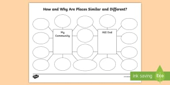 States and Territories Hill End Compare and Contrast Activity Sheet - Bald Hill, gold rush, Hill End, Historic Site, NSW, Australian Curriculum, HASS, Geography, Year Thr