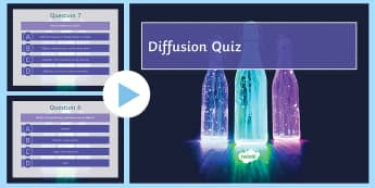 Diffusion Quiz PowerPoint - Requests KS3 Science, diffusion, particles, particle model, diffuse, flip book