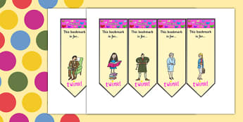 Editable Bookmarks to Support Teaching on Matilda - matilda, roald dahl, bookmarks