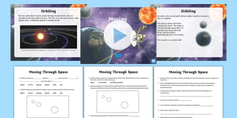 Moving Through Space Lesson Pack - ACSSU048, ACSSU078, earths movement, solar system, earths rotation, earths revolution, day and night