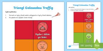 Triongl Goleuadau Traffig - Goleuadau, Traffig, Emosiynau, Cymorth, Cefnogi, Traffic, Light, Emotions, Support, Tool,,Welsh