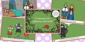 Frumoasa din Padurea Adormita, rezumat, planse imprimabile, Romanian
