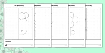 Spring Themed Symmetry Worksheets - spring, symmetry, worksheet