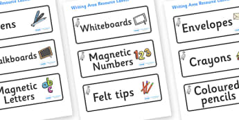 Cygnet Themed Editable Writing Area Resource Labels - Themed writing resource labels, literacy area labels, writing area resources, Label template, Resource Label, Name Labels, Editable Labels, Drawer Labels, KS1 Labels, Foundation Labels, Foundation