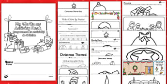 Christmas Activity Photocopy Pack Activity Pack - English/Romanian