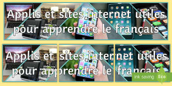 Apps for Learning French Display Banner - technology, classroom, KS3, KS4, ,French