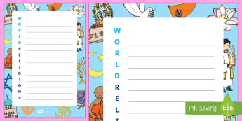 KS1 World Religion Day Acrostic Poem - KS1, World Religion Day, 15th January, year 1, year 2, acrostic poem, religion, religious beliefs, p