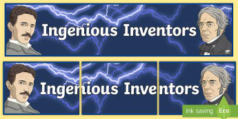 Ingenious Inventors Display Banner  - Electricity Display Banner - electricity, electricity banner, electricity display, electricity displ