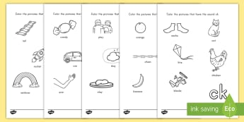 Digraph Coloring Activity Sheets - digraph, phonics, language, English, sounds, worksheet