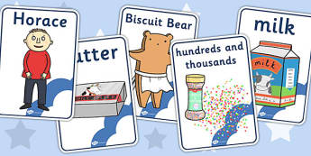 Display Posters to Support Teaching on Biscuit Bear - Biscuit, Bear, Story, Cards, Word