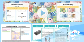 French: Let's Go Shopping: French Money Year 6 Lesson Pack 4