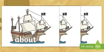 F-2 Keywords on Pirate Ships - Australian Curriculum, Australia, History, Convicts, Pirates, F-2, Keywords, Pirate Ships, High Freq