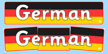 German Display Banner - MFL, German, Modern Foreign Languages, German numbers, foundation, languages, display, banner, display