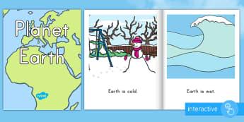 Planet Earth Emergent Reader eBook - Planet Earth emergent reader eBook, Earth Day emergent reader eBook, early reading, beginner readers