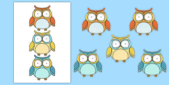 Cute Owl Themed Display Cut Outs - cute owl, themed, display, cut outs