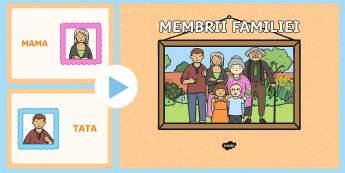 Membrii familiei PowerPoint - familie, familia mea, dezvolatare socială, totul despre mine, ,Romanian