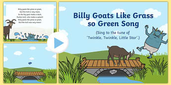 Billy Goats Like Grass So Green Song PowerPoint