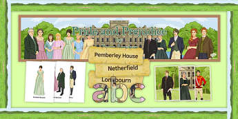 Pride and Prejudice Display Pack - Pride and Prejudice, GCSE, English Literature, Jane Austen, AQA, EDEXCEL, WJEC, OCR, reading, nineteenth century prose
