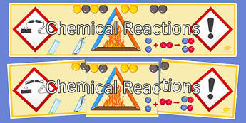 Chemical Reactions Display Banner - display banner, display, banner, chemical reactions