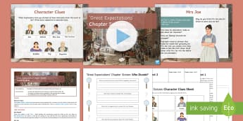Great Expectations Chapter 16 Lesson Pack - Great Expectations, Charles Dickens, Pip, Joe, Mrs Joe, Biddy, Orlick