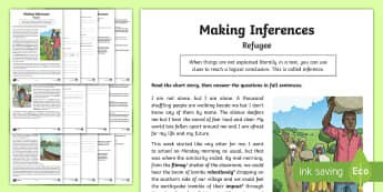 KS2 Refugee Original Story Differentiated Activity Sheets - KS1 & 2 Refugee resources (refugee week (20.6.17) KS2, LKS2, UKS2, Y 5&6, Year five and six,  Y 3&4,