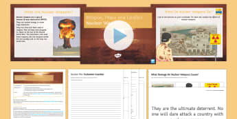 Nuclear Weapons Lesson Pack - Nuclear weapons; disarmament; war; Islam; Christianity.