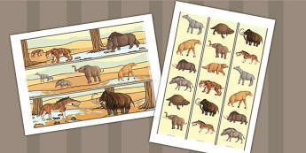 Prehistoric Beasts Display Border - prehistoric, borders, display
