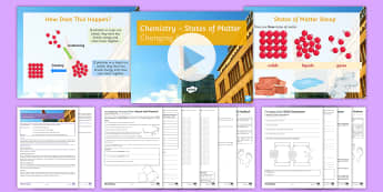 States of Matter: Changing States Lesson Pack - states of matter, particles, solids, stearic acid, liquids, gases, KS3, experiment
