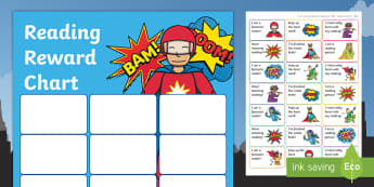 KS1 Superhero Themed Reading Sticker Reward Charts - Y1, home readers, reading log, stickers, motivation